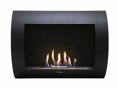 Purline Biochimenea INOX-CLASIC B Bio-Ethanol Wall Mounted Fireplace, Black