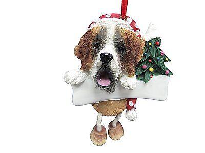SAINT BERNARD--Dangling Legs Dog Christmas Ornament by E&S Pets