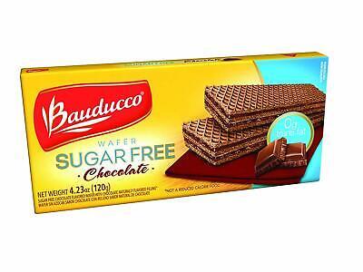 Chocolate Sugar Free Wafers - Bauducco Wafer Sugar Free Chocolate 4.23 oz 120g *** look ***