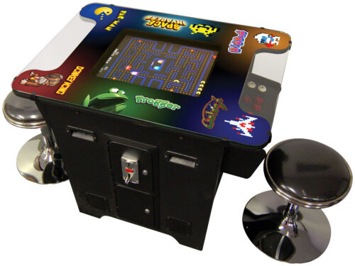 Retro Video Game Console Arcade Cocktail Table 60 Games With Free Stools