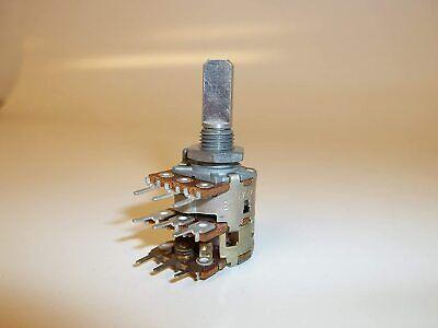 10k Ohm Dual Gang Potentiometer Spdt Switch Audio Taper Alps 8243r 10kax2 Pot Fs