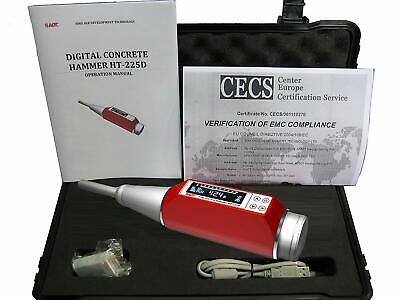 Dual Display Concrete Rebound Test Hammer Ndt Testing Resiliometer 10-100nmm