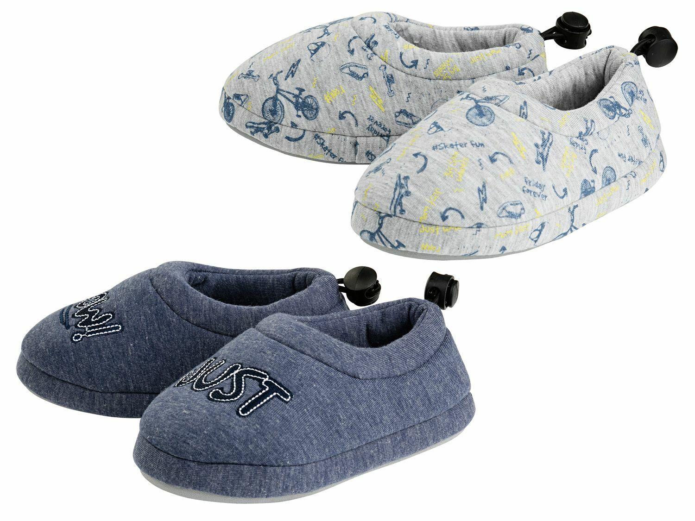 LUPILU® Hausschuhe Kleinkinder Jungen weiches Futter praktischer Gummizug Schuhe