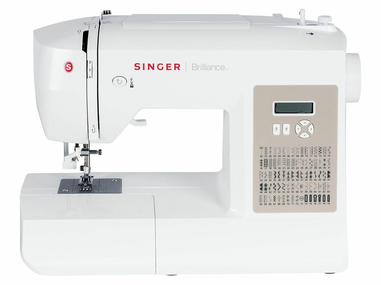 OVP Singer Brilliance 6180 Elektronik Nähmaschine mit großem Anschiebetisch NEU