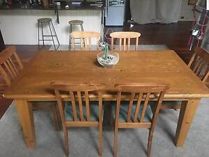 Dining table & 6 chairs 1800x1000mm Moriac Surf Coast Preview