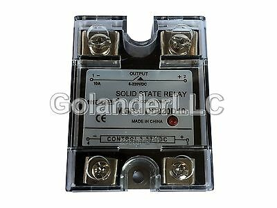 10a 3-32vdc To 5-220vdc Solid State Relay Ssr  Clear Cover