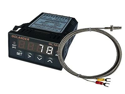 12v Dc 132din Digital Pid Temperature Controller White With K Thermocouple