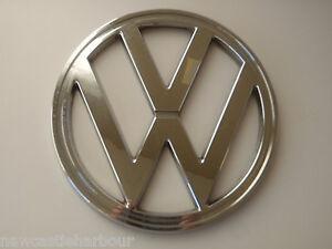 VW-CAMPER-T2-Front-Badge-Chrome-Bay-Window-1973-79-Emblem-BUS-BAY-VAN-Type-2
