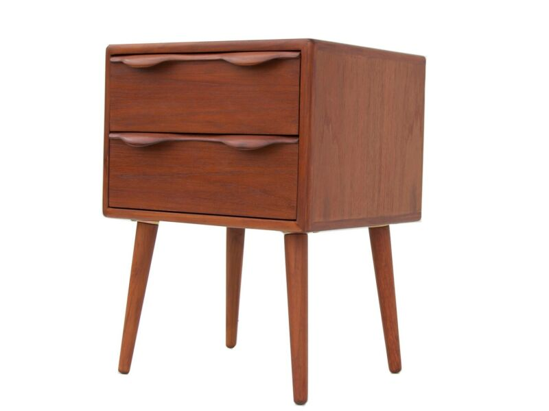 New Mid Century Modern Nightstand Side Table