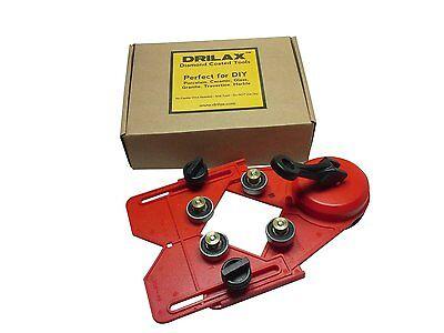Drill Fixture - Drilax Drill Bit Hole Saw Guide Jig Fixture Vacuum Suction Base Cooler Input