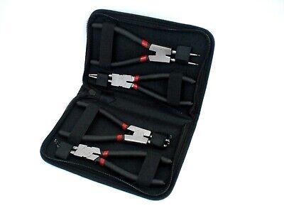 Alicates de Presión Anillo Seguridad Pinzas Kit 4 Piezas 175MM Set