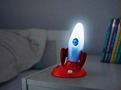 für Jungs! Osram LED Nachtlicht Rakete, incl. Taschenlampe, Sensor,Akku,Notlicht