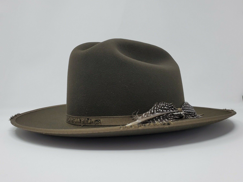 STETSON TRI-CITY WIDE BRIM ROYAL DELUXE FUR FELT FEDORA HAT