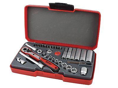 Teng Tools Sale! 1/4 Drive Deep Socket Ratchet Extension UJ Tool Set With Case