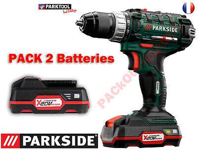 Parkside Taladro-Atornillador Inalámbrico Pabs 20-Li A1, 20V Pack 2 Baterías