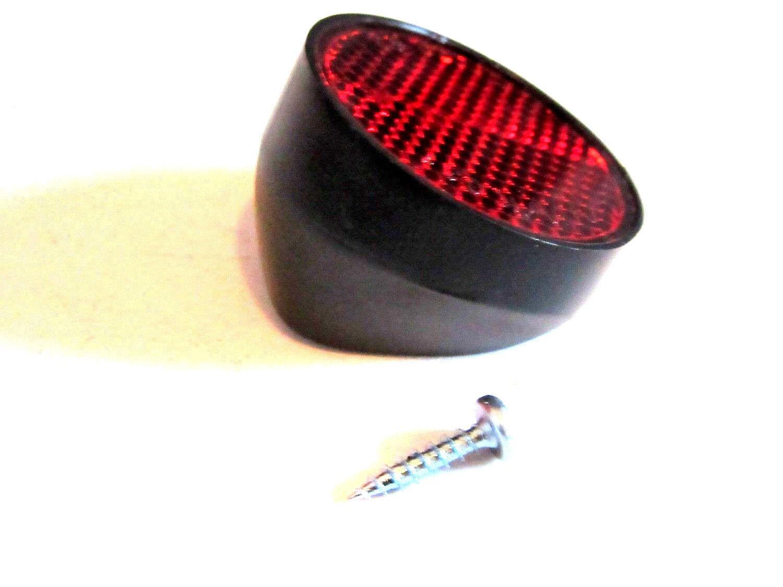 Fahrrad Rückstrahler für Schutzblechbefestigung Reflektor rund  ca. 40 mm K631
