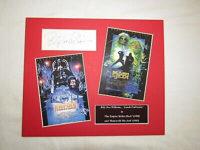 Billy Dee Williams Played Lando Star Wars Signed Autographed Display
