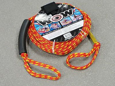 "NEW WOW 3/8"" x  60' Tow Rope 2K 1 or 2 Rider Towable Inflatable Ski Tube 11-3000"