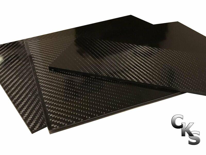 (4) Carbon Fiber Plates - 200mm x 300mm x 2mm Thick - 100% -3K Tow, Plain...