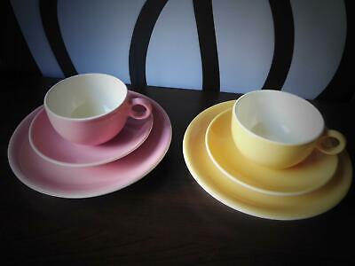 PIRAL Italy Set Frühstückteller Teller Tasse Untertasse rosa gelb 60er (b19) gebraucht kaufen  Weilerswist