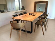 KING DINING TABLE METAL LOOP LEGS ROUNDED CORNERS Sandringham Bayside Area Preview