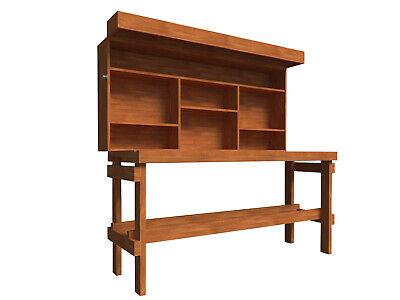 Folding Workbench Plans DIY Garage Storage Work Bench Table with Shelf