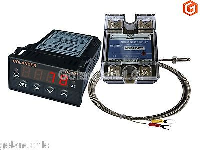 Universal 132din Pid Temperature Controller Red 25a Ssr K Thermocouple