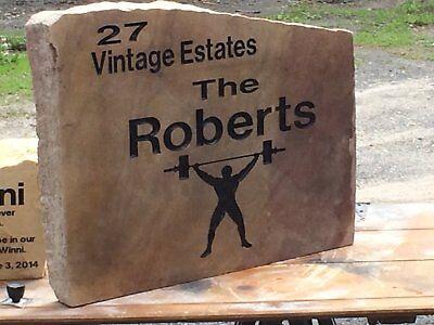 Stone Address Markers (Address Marker Stone, Engraved, Family Stone, New Home, Garden)