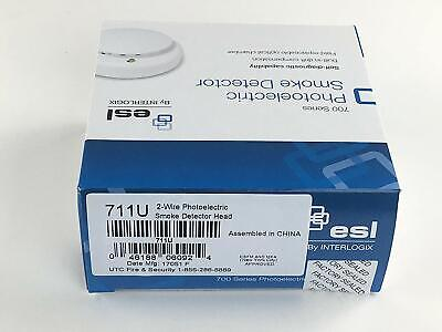 Esl 711u Photoelectric Fire Alarm Smoke Detector Nib - Free Shipping - P