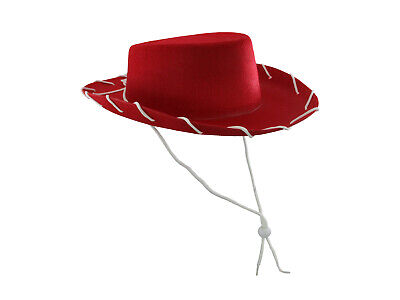 Childs Girls Western Woody Jessie Style Kids Cowboy Ranch Hat RED Costume