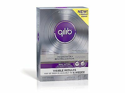 Qilib Regrowth + Revitalization Hair System Men (1 Month Supply) - NEW & SEALED