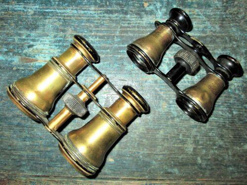 ANTIQUE BRASS OPERA GLASSES, BINOCULARS