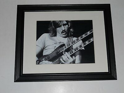 "Framed Joe Walsh 1972 Poster James Gang, Eagles (Arms Crossed) 14"" by 17"""