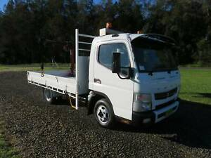 2012 Fuso Canter FE - TRAY WITH CRANE - CAR LIC - LOW KLMS! North Macksville Nambucca Area Preview