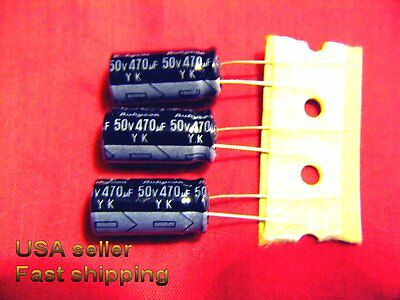4 pcs  -  470uf 50v   electrolytic capacitors FREE SHIPPING