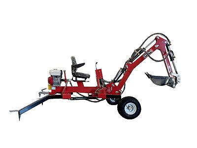 Hoc Te301h Honda Towable Excavator Backhoe Trencher 1 Year Warranty
