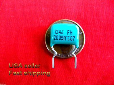 4 pcs - .12uf  (0.12uf) 200v metalized film capacitors FREE SHIPPING