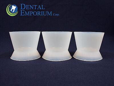 Dental Lab Flexible Silicone Dappen Dish Mixing Bowl Cup 100Ml X Large 12Pc Bag