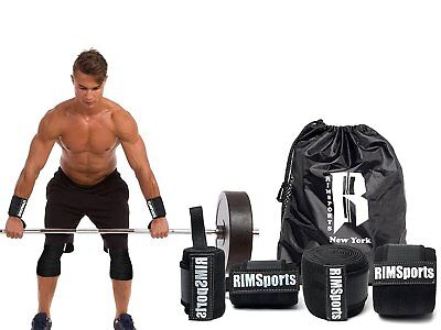 RIMSports Wrist Wrap - Leg Wrap Combo by Best Knee Support for