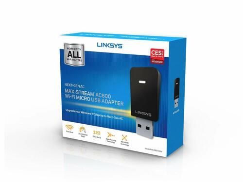 Linksys Next-Gen AC Dual-Band Wireless-AC600 USB Network Adapter WUSB6100M
