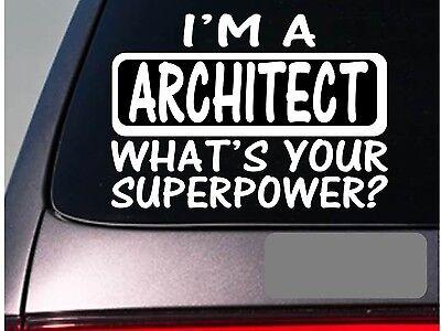 I'm an architect sticker decal *E174* contruction hard hat designer](Contruction Hat)