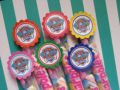 Candy Buffet Favors (20 Paw patrol marshmallow party favors, goodie bag fillers, candy)