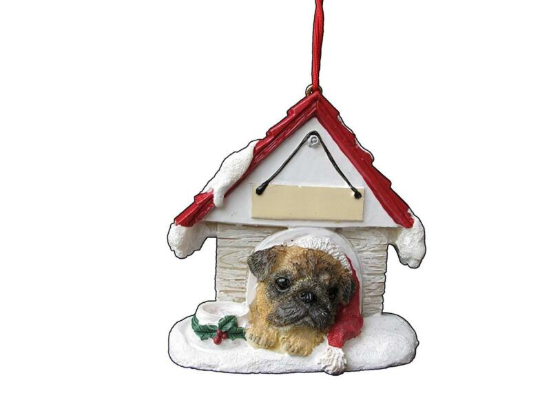 Pug Doghouse Ornament Hand Painted and Easily Personalized