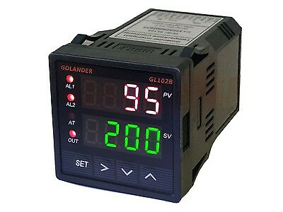 24v Dc Dual Display Digital Pid Fc Temperature Controller With 2 Alarm Relays