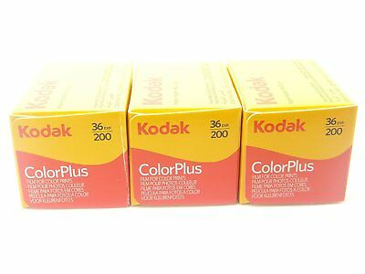 Kodak Colorplus 200 35mm 36exp 3 Rolls Cheap Colour Film - Free UK Postage