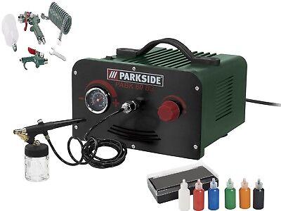 Airbrushset Kompressor Farben Pistole Airbrush Spritzpistole parkside PABK 60 B3