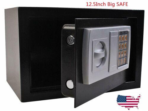 "SAFEGUARD 12.5"" Electronic Digital Lock Keypad Safe Box Cash Jewelry Gun Black"