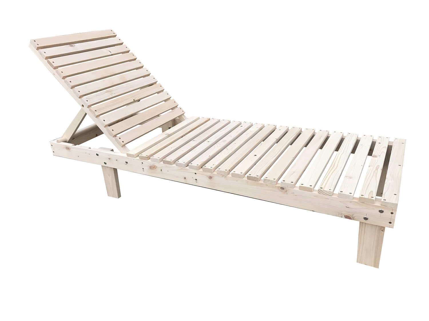 In/Outdoor Wooden Chaise Lounge Patio Lawn Solid Chair Adjustable Furniture New