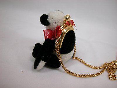 "World of Miniature Bears 2.75"" Plush Bear Panda Purse #1027 Collectible Bear"