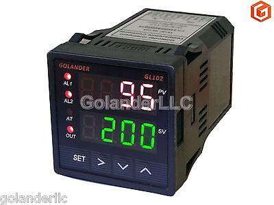 Dual Display Digital Pid Fc Temperature Controller With 2 Alarm Relays116 Din
